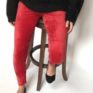 Red Velvet stretchy Leggings